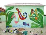Bonaire muurschildering